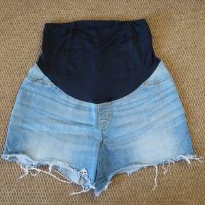 Isabel Maternity Midi Short Jean Shorts